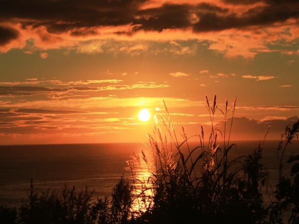 海の別邸ふる川から見える今日の朝日~平成28年9月10日